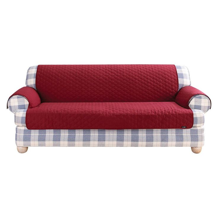 quilted duck furniture friend pet loveseat cover claret sure fit