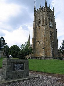Memorial to Simon de Montfort, 6th Earl of Leicester - Evesham Abbey
