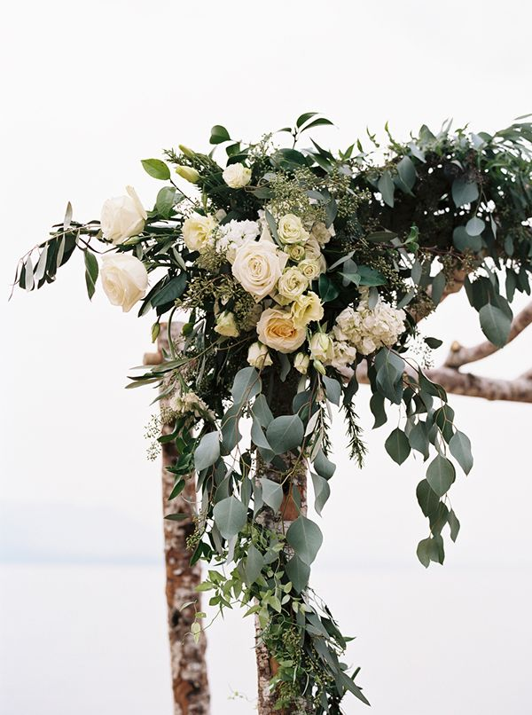 These are the flowers I want on the arch- lots of eucalyptus and white roses, maybe with some more greenery