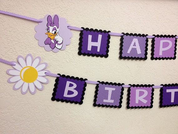Daisy Duck Birthday Decorations Banner by TheGirlNXTdoor on Etsy, $24.00