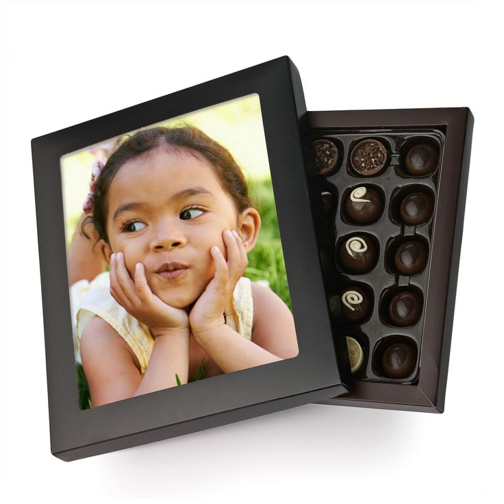 Personalised Chocolate Photo Box, 30 Chocolates, 290g