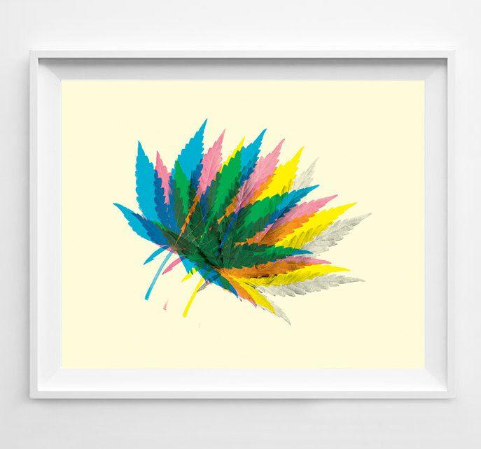Marijuana - Weed Art - Weed Poster - Pot Leaf - Pot Leaf Poster - Weed Print - Marijuana Art - Marijuana Poster - 420 - Pot Leaf Art - (12.00 USD) by FlyingPalmStudio