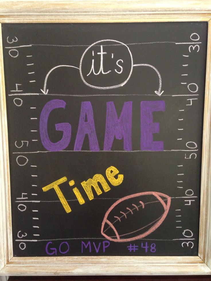 Football Chalkboard Art First Game Of The Season