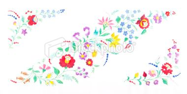decorated with Hungarian embroidery Royalty Free Stock Photo