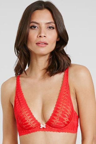 A barely there red lace number. | 16 Ridiculously Pretty Bras You'll Want To Keep On All Day