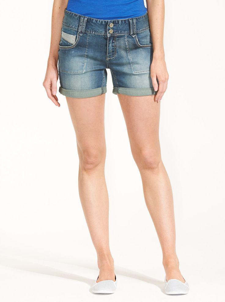 Double Button Short   Just Jeans Online Store