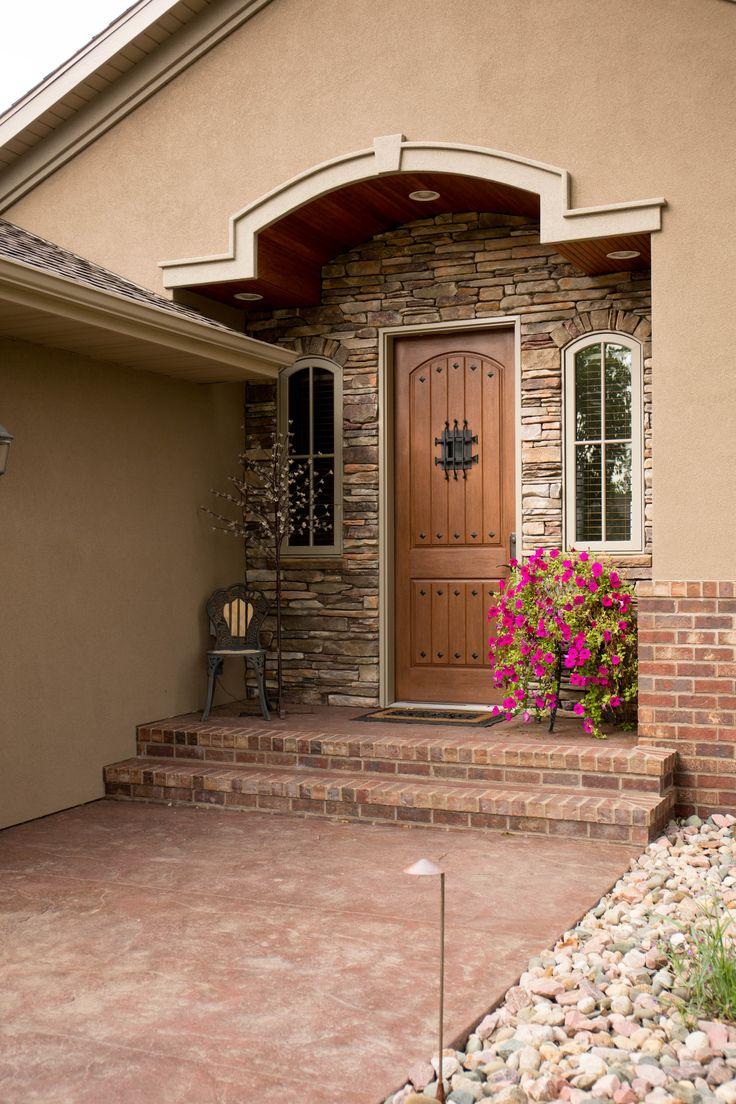 Exterior Doors Fiberglass Two Panel Entry Door With