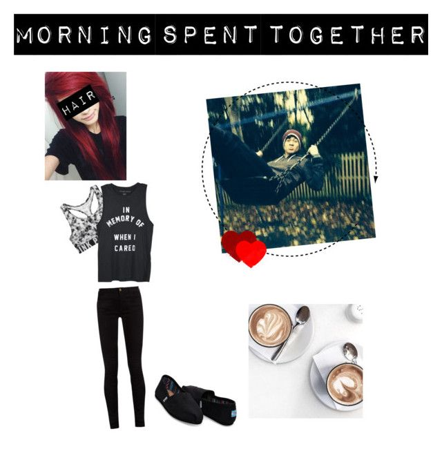 """Morning with Calum"" by queen-brit on Polyvore featuring TOMS, Victoria's Secret, Gucci, imagine, 5sos and calumhood"