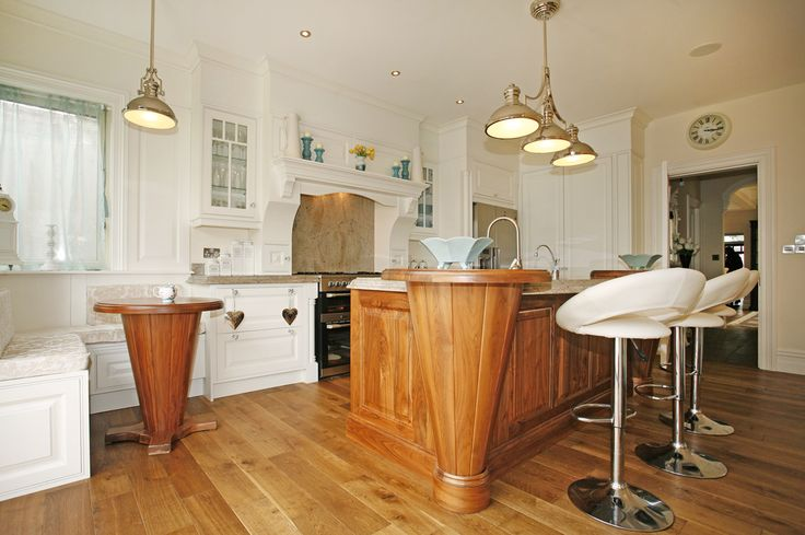 Classic kitchen in creams and walnut