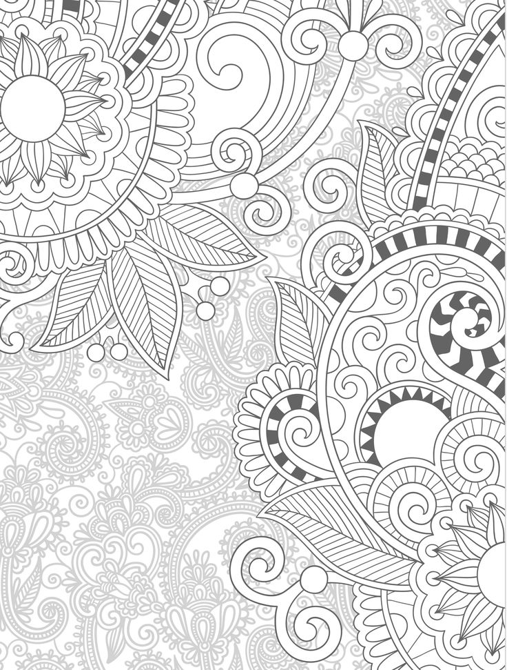 A4 Colouring Pages To Print For Adults : Best 25 paisley coloring pages ideas on pinterest color