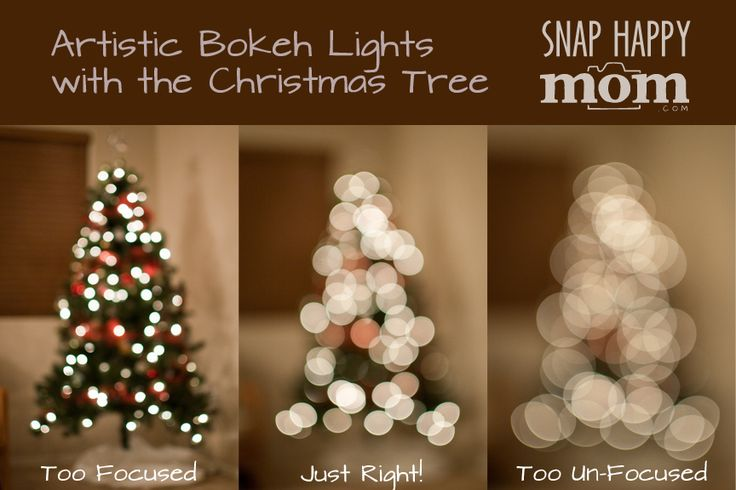 How To Take Artistic Pictures of Christmas Tree Lights - www.SnapHappyMom.com
