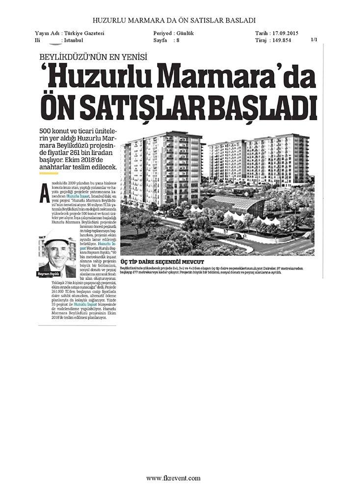Huzurlu Marmara'da Ön Satışlar Başladı