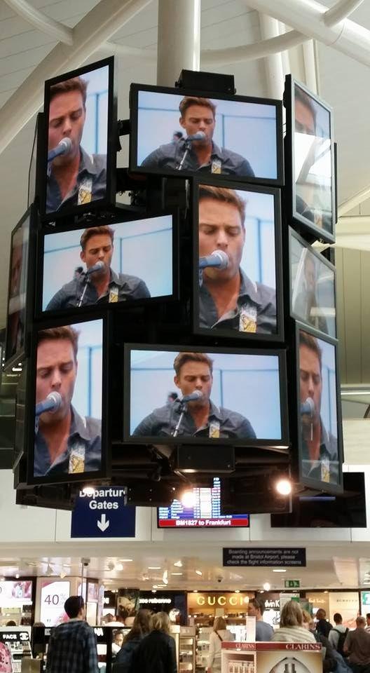 Lots of Ben Montague at Bristol Airport, September 2015