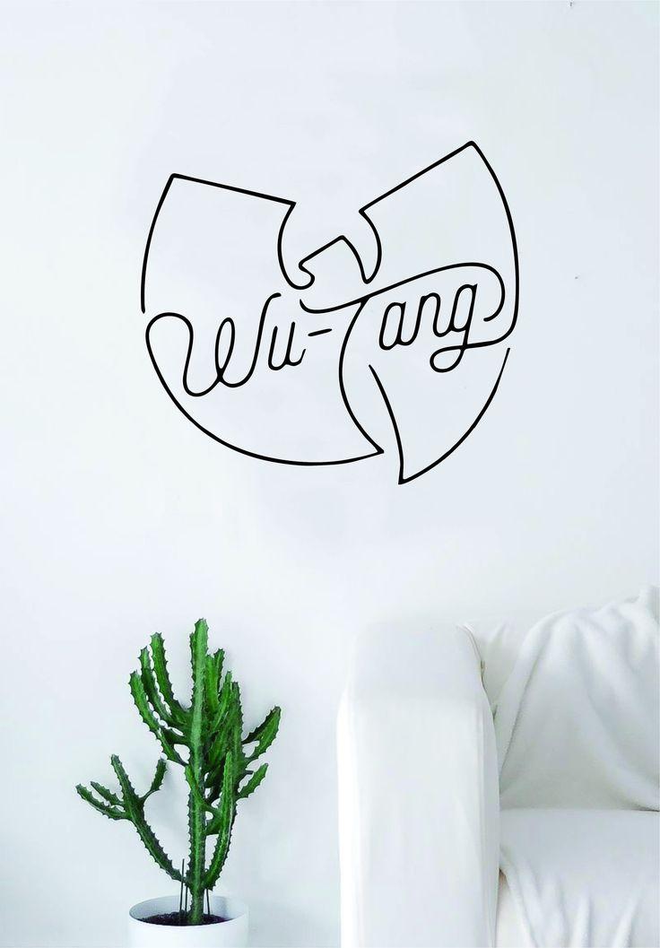 Wutang Logo V2 CREAM Quote Wall Decal Sticker Room Art Vinyl Rap Hip Hop Underground Lyrics Music Inspirational Killa Bees Swarm