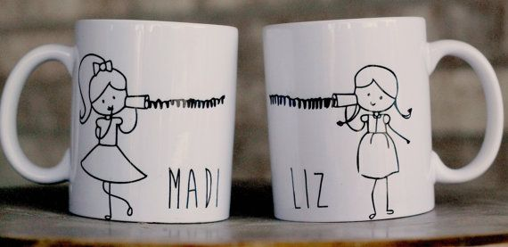 Best Friend Mugs Long distance mother/daughter von ShopFourArrows