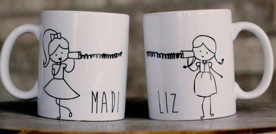 Best Friend Mugs Long distance mother/daughter von ShopFourArrows