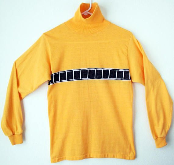 60's-70's Yamaha Yellow Molly Design Mod Turtle Neck