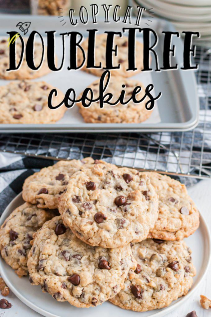 Doubletree Cookies On A Plate With Baking Sheet In Background Best Cookie Recipes Food Processor Recipes Oatmeal Chocolate Chip Cookies
