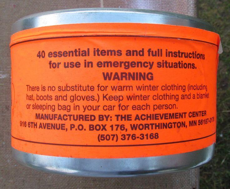 winter car survival kit