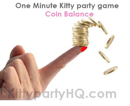 Checkout this game, balance coins on your index finger !