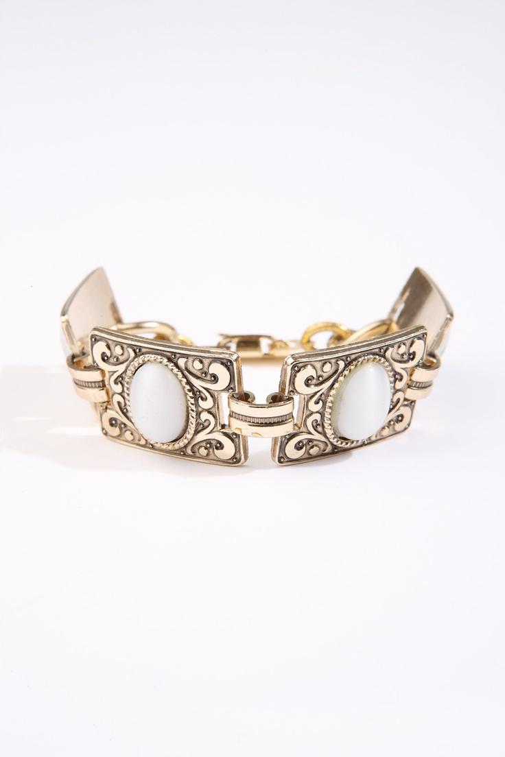 Vintage Jewellery Square Link Bracelet