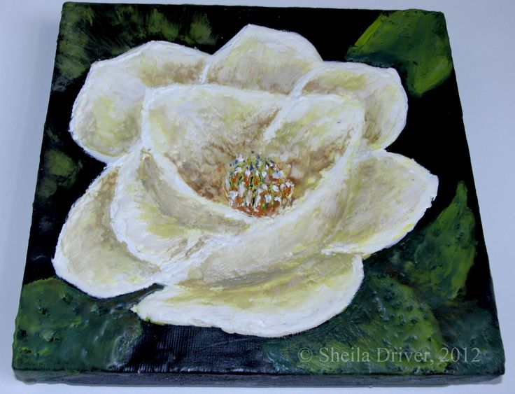 "Title: The Rose Size: 8""X71/2""  Medium: Acrylic and Encaustic Wax"