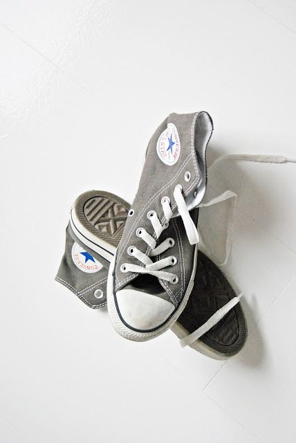 Grey Hi-Top Converse. Classic yet unique