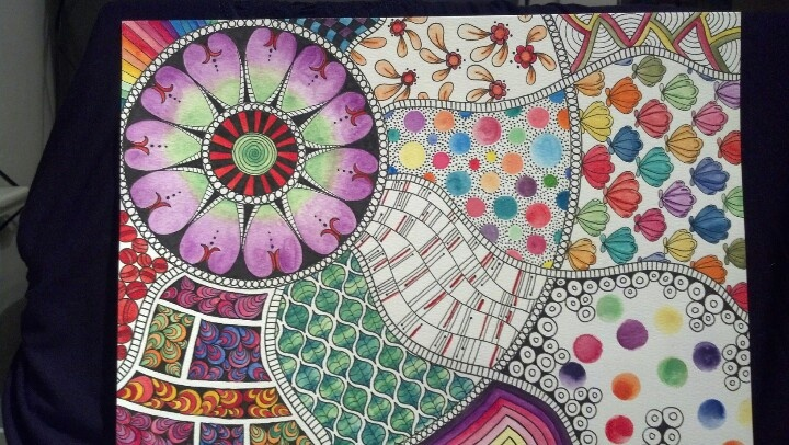 Zentangle watercolor pencils Shawna