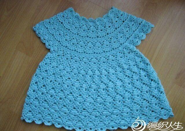Милое платье крючком для девочки. Вязание крючком летнего платья для девочки