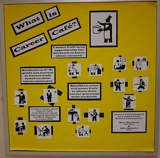Career Cafe bulletin board