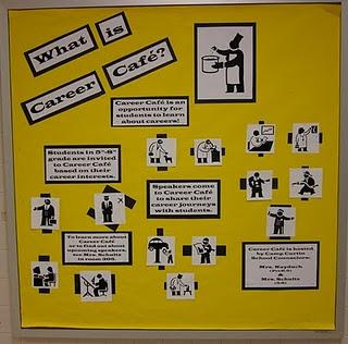Career Cafe bulletin board