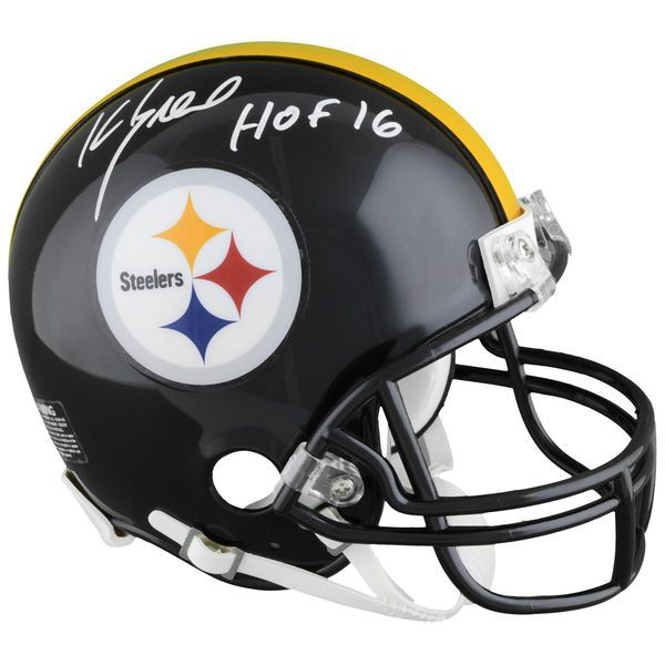 "Kevin Greene Pittsburgh Steelers Fanatics Authentic Autographed Riddell Mini Helmet with ""HOF"" Inscription - $189.99"