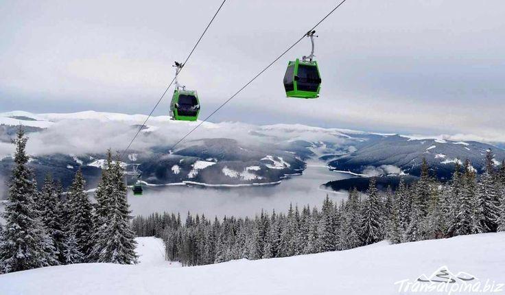 Transalpina Ski Resort, view over Vidra Lake. Romania