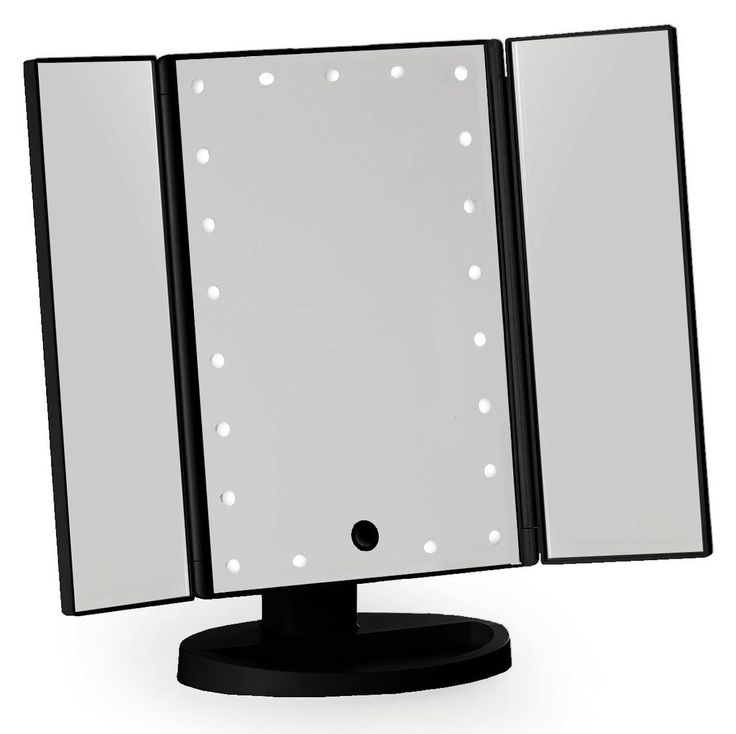 Black Three Way Vanity Mirror Vanities