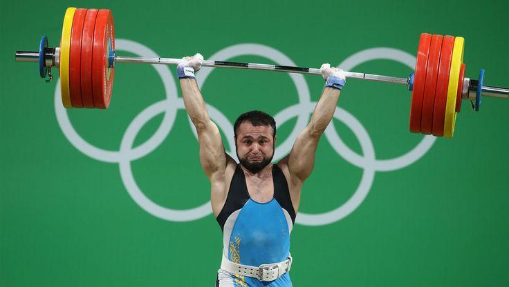 Weightlifting world record for Rahimov, as China's Xiang takes gold!#weightlifting #worldrecord #olympics #china #rahimov #gold