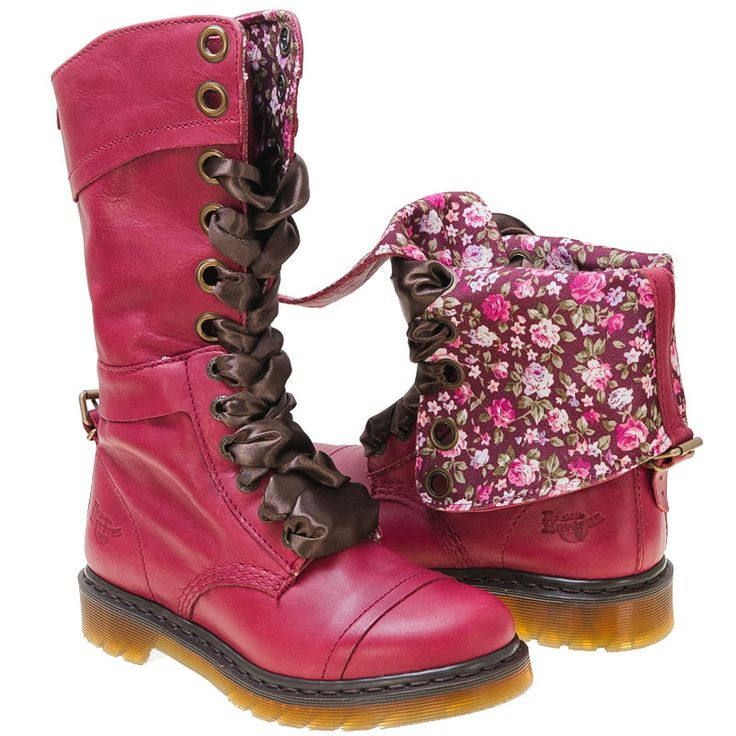 Buy Red Dr. Martens Women's Dr Martens Cherry Triumph Lace-Up Boot shoes Oh my I want these soooo bad!