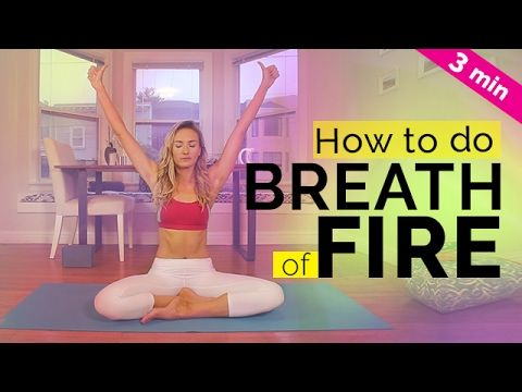Kundalini Yoga For Beginners: How to do Breath of Fire Tutorial | Yoga Breathing Techniques