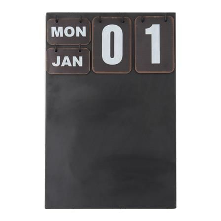 Hanging Calendar and Chalk Board