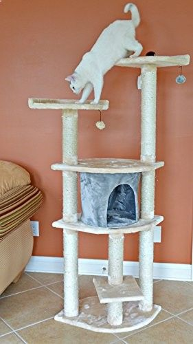 Armarkat Cat Tree Model, Blanched Almond
