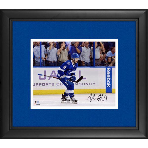 "Tyler Johnson Tampa Bay Lightning Fanatics Authentic Framed Autographed 8"" x 10"" Goal Celebration Photograph - $89.99"