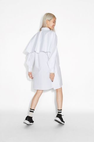 Monki Image 2 of Shirt dress  in White