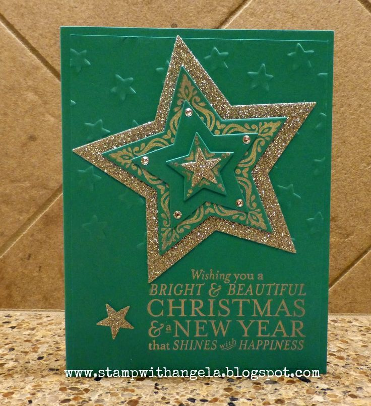Paper Craft Christmas Card Ideas Part - 35: Stamp With Angela: Bright And Beautiful Christmas Card, Bright And  Beautiful, Stampinu0027