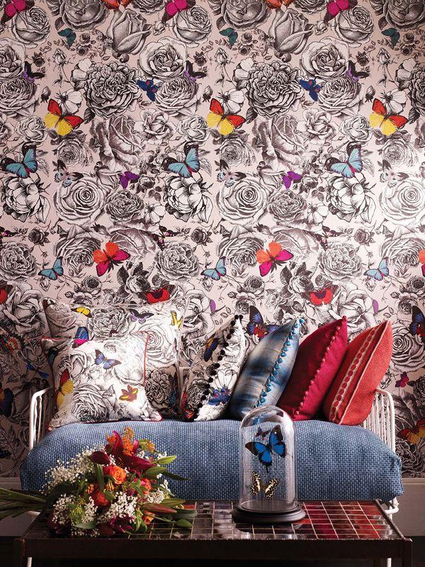 Modern Botanicals Osborne and Little wallpaper - butterflies