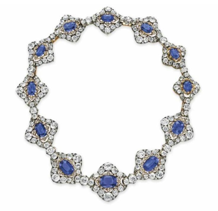 El collar de zafiros y diamantes de la Reina María Cristina de España
