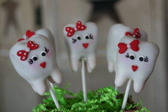 Dentist cookies | Mom's Killer Cakes & Cookies OWN ORIGINAL DESIGN Tooth Cake Pops ...