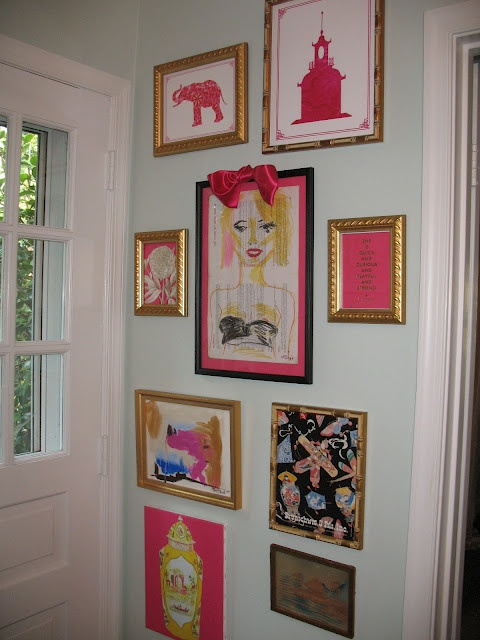 Chinoiserie Chic: One Room Challenge: In the Pink: Wall Art, Interesting Artworks, Galleries Wall, Chinoiserie Kitchens, Artworks Galleries, Chinoiserie Chic, Art Wall, Rooms Challenges, Pink Artworks