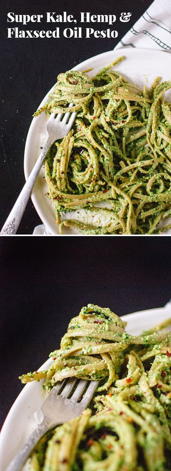 Get your greens and omega-3's with this kale pesto (ready in 5 minutes!) - http://cookieandkate.com
