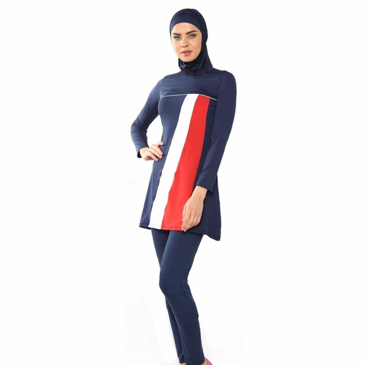 Hijab Muslim Swimwear islamic bathing SwimSuits full coverage for women high waist swimsuit swimwear women trajes de bano hooded Ramadhan -- AliExpress Affiliate's Pin.  Click the VISIT button to view the details on AliExpress website