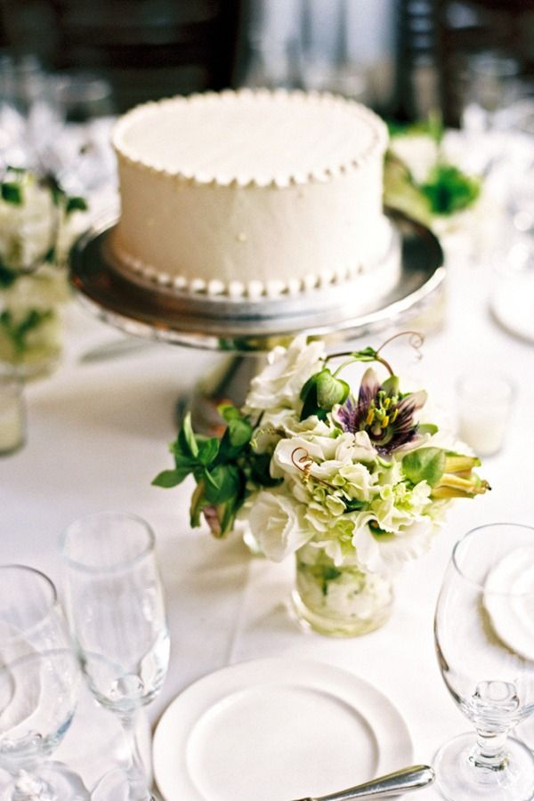 Cake display idea  sprinkle some flower petals or gems or tea light candles and you have a simple, cake centerpiece