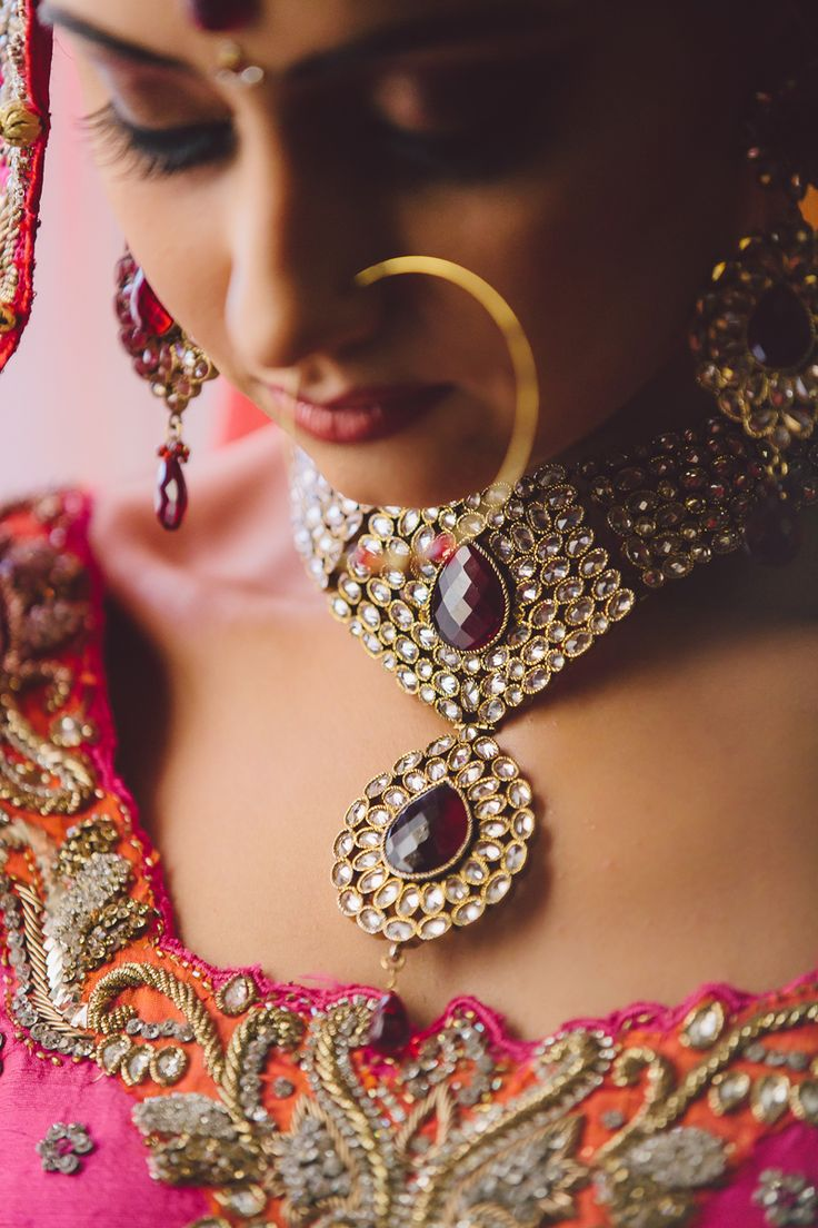 Indian Bride Wearing Bridal Jewellery #nosering